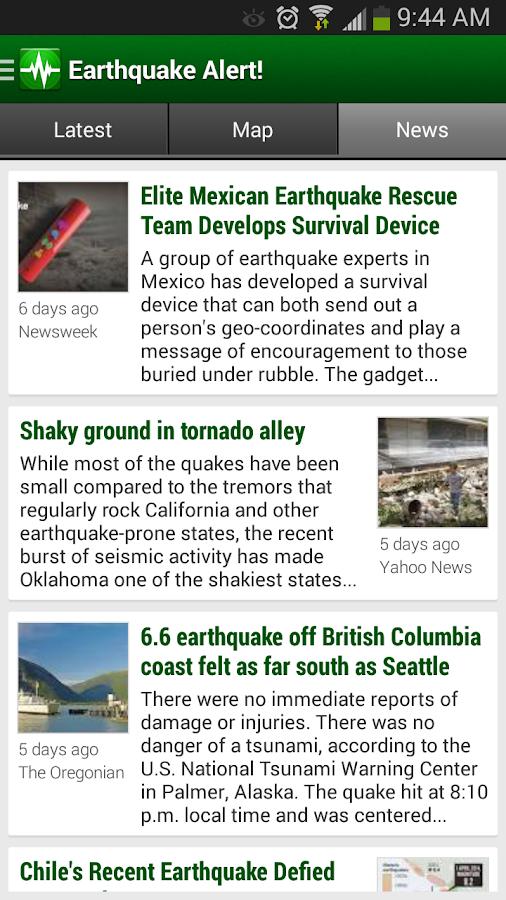 Earthquake Alert! - screenshot