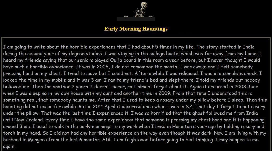 Casino ghost stories