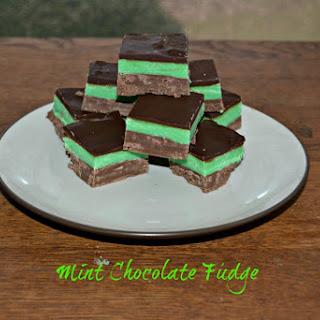 Chocolate Mint Fudge.