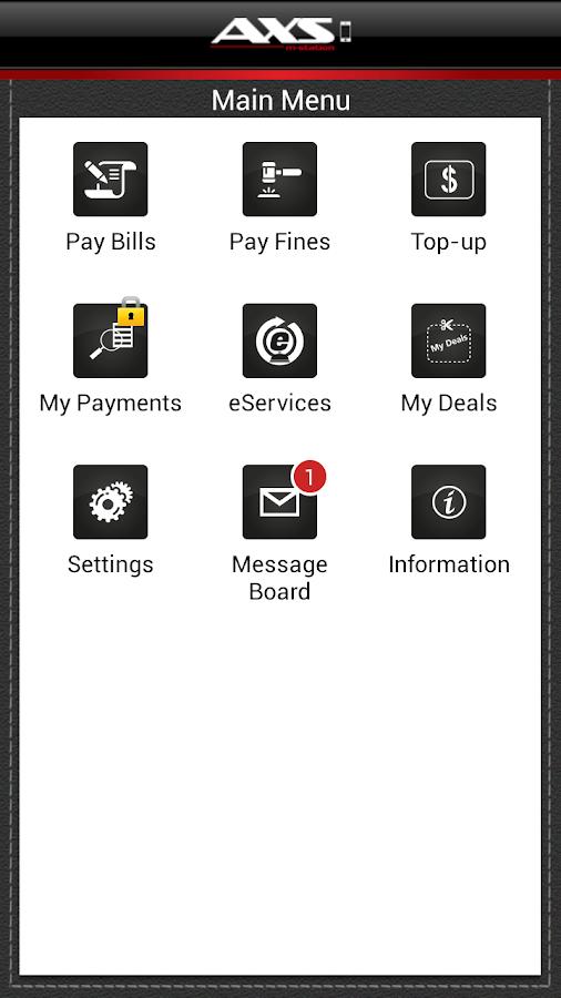 AXS Payment - screenshot