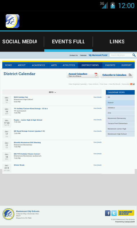 Mariemont School District - screenshot