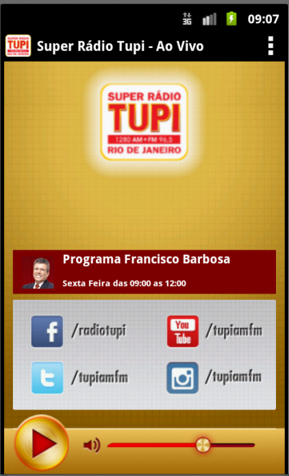Super Radio Tupi- screenshot