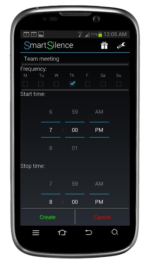 SmartSilence: Silent Scheduler - screenshot