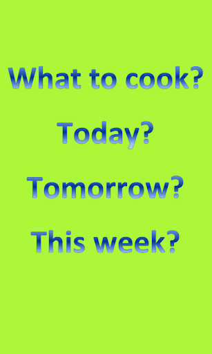 What to Cook - limited