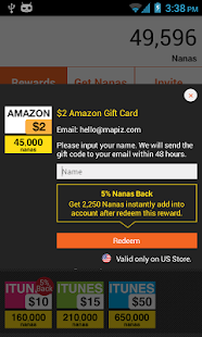 AppNana - Free Gift Cards - screenshot thumbnail