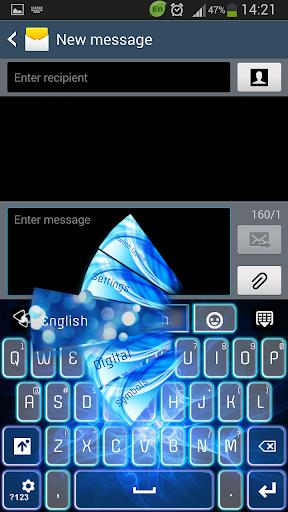 GO键盘蓝色发光