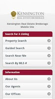 Screenshot of Kensington Real Estate Mobile