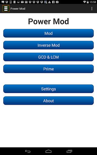 Power Mod Calculator