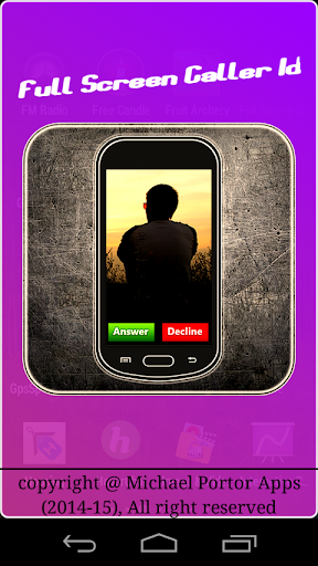 Full Screen Caller Image