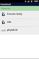 Screenshot of ForumTouch