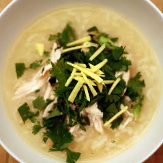 Chicken Soup with Jasmine Rice and Ginger.