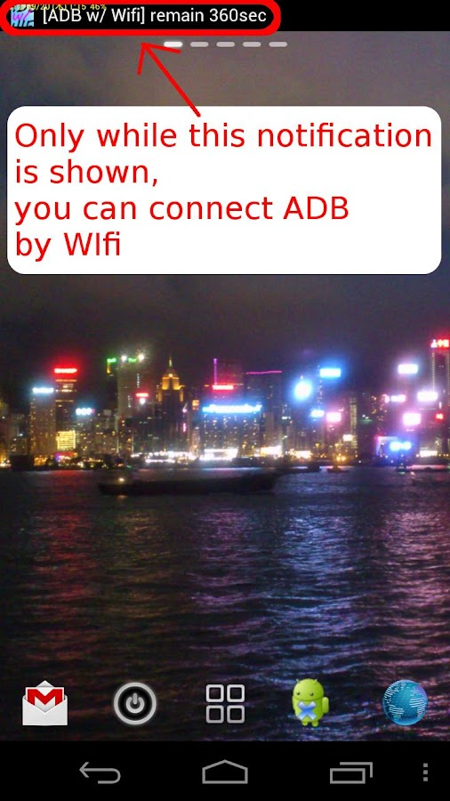 [root] ADB over Wifi Switcher- screenshot