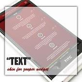 Text Zooper Widget Skin