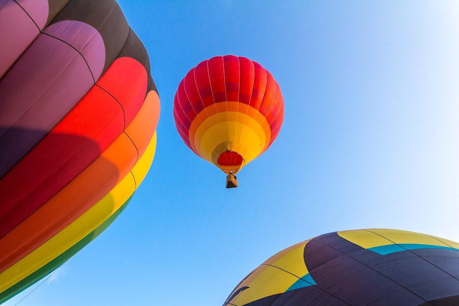Hot Air Balloon Festival by Jeff Harmon - Transportation Other ( hot air balloon, 2014, utah, august, festival, sandy )