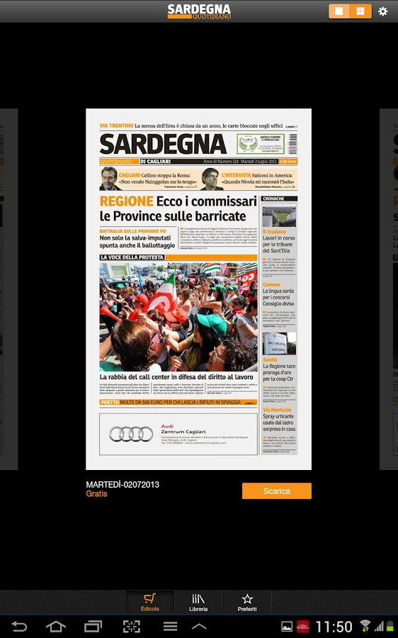 Sardegna Quotidiano - screenshot