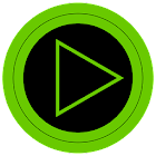 Poweramp skin TRON VERDE icon