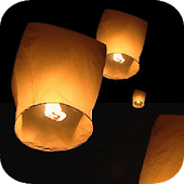 Night Sky Lantern Live Wallpap