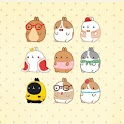 Molang Friends Atom Theme icon