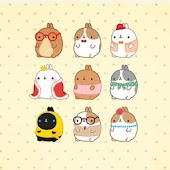 Molang Friends Atom Theme