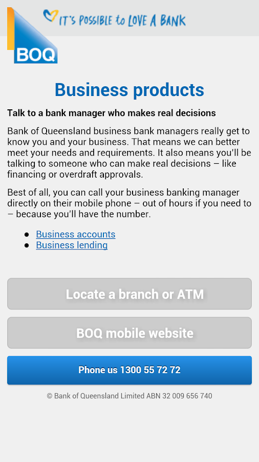 BOQ Launch Pad - screenshot