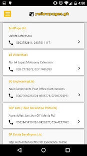 Yellow Pages Ghana- screenshot thumbnail