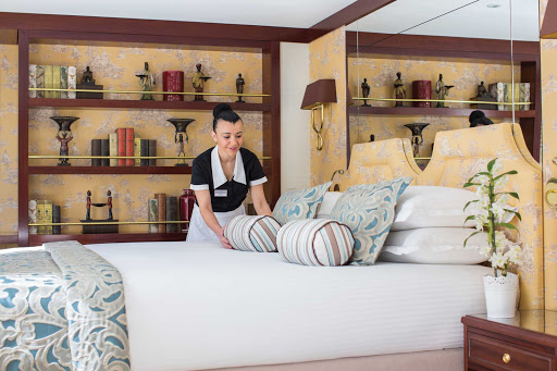 Uniworld-Queen-Isabel-suite-service - You'll appreciate the high-class in-suite service as you make your Mediterranean voyage on board Uniworld's cruise ship the Queen Isabel.