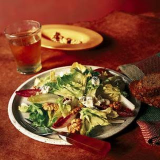 Escarole and Endive Salad with Gorgonzola and Walnuts