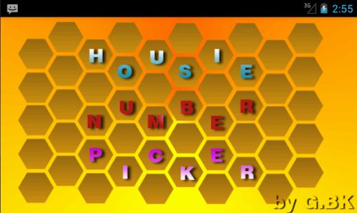 Housie Number Picker