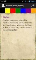 Screenshot of Arkham Horror Droid