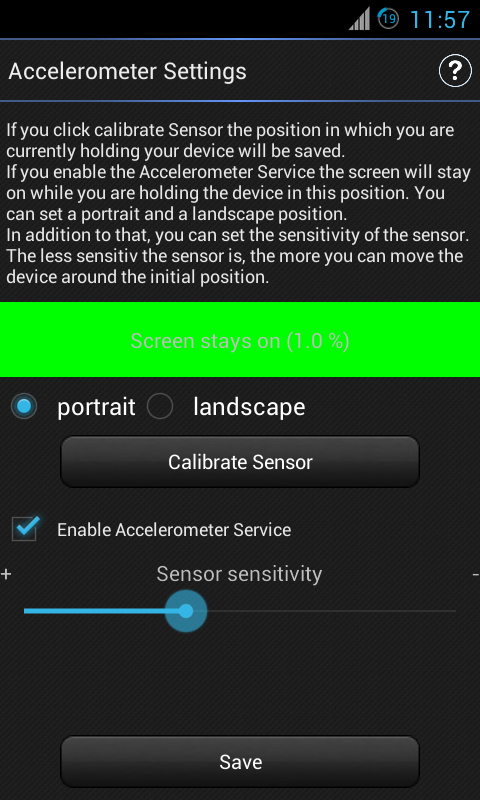 IntelliScreen - screen control - screenshot
