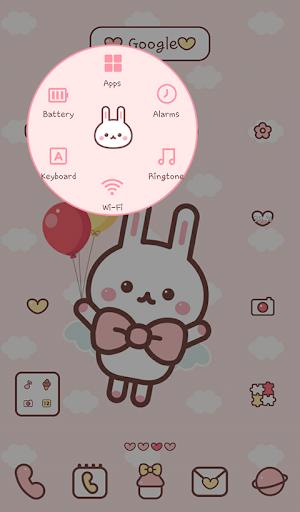 【免費個人化App】날아라 토깽이 도돌런처 테마-APP點子