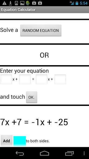 Algebra Equation Helper