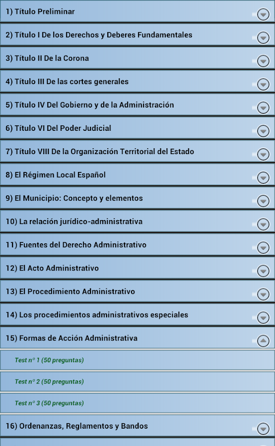 Policia Local Test Examenes - screenshot