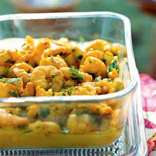 Saffron Shrimp with Fennel Seeds.