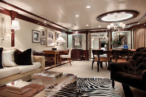 Oceania_OClass_Owners_Suite-2 - Enjoy the wide open spaces of the classy Owners Suite aboard Oceania Marina.