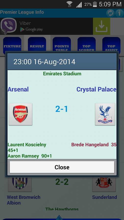 Premier League Info - screenshot