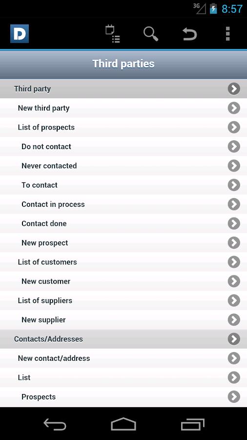 DoliDroid (Dolibarr ERP & CRM) - screenshot