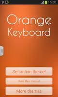 Screenshot of Orange Keyboard