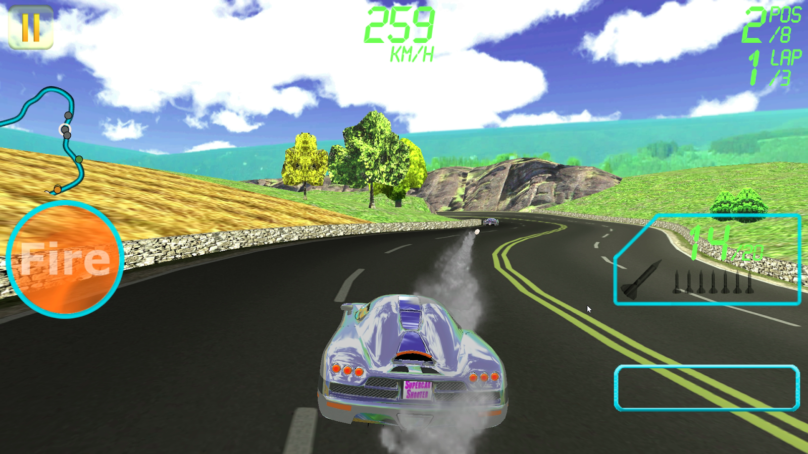 Supercar Shooter : Death Race- screenshot