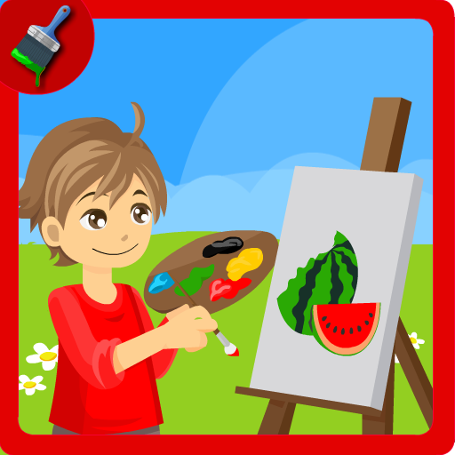 Coloring Fruits Paint