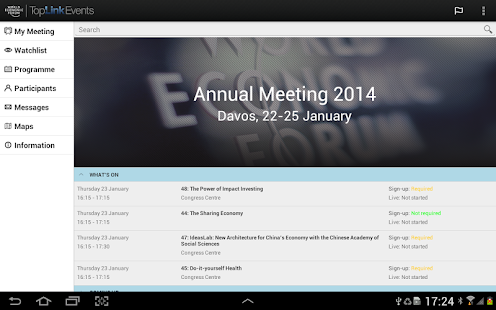 World Economic Forum Events - screenshot thumbnail