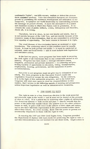 Special Message to Congress on Civil Rights, page 2