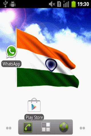 India Flag Live Wallpaper - screenshot