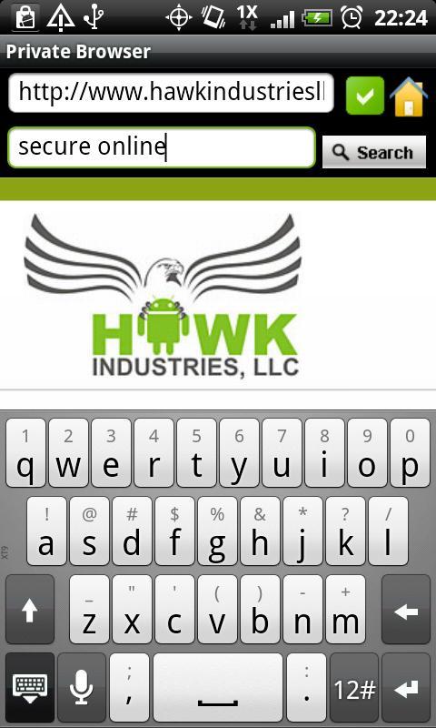 Private Browser- screenshot