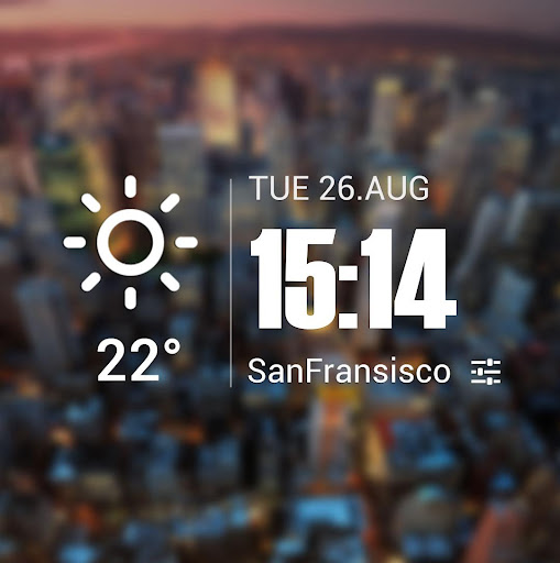 Live weather & Clock Widget Apk apps 2