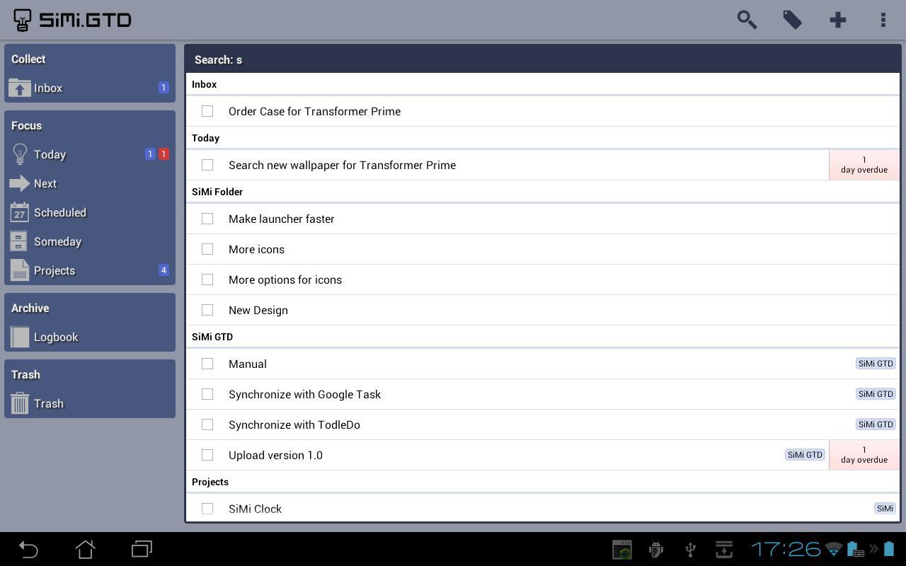 SiMi GTD- screenshot