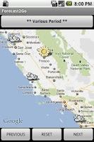 Screenshot of Forecast2Go