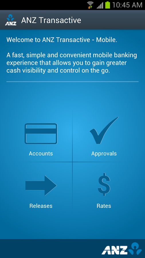 ANZ Transactive - screenshot