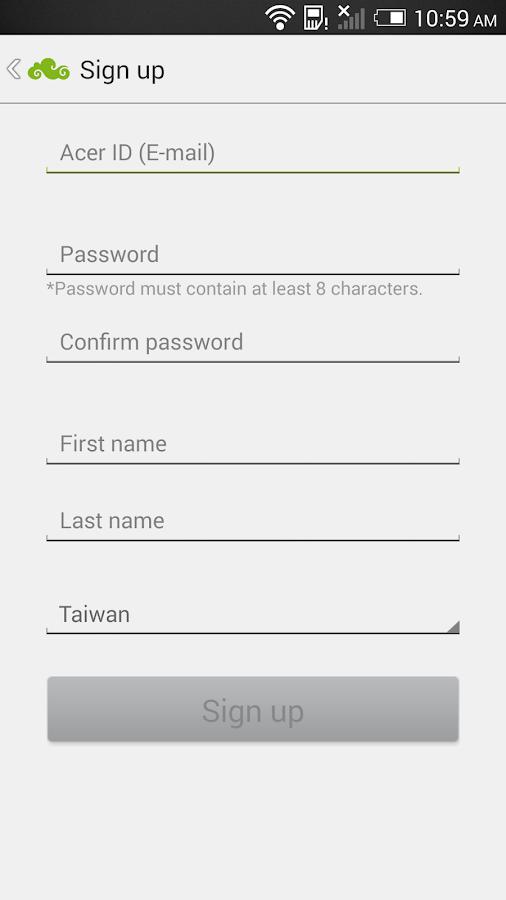 Acer Portal - screenshot