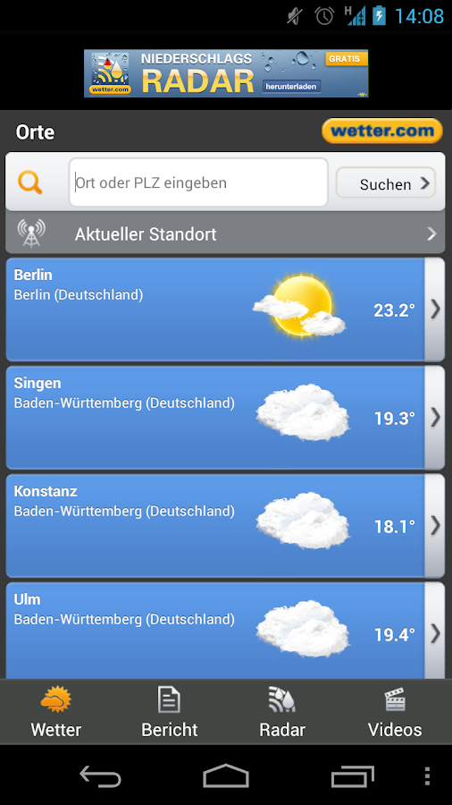 wetter.com - screenshot